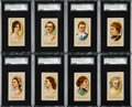 """Non-Sport Cards:Sets, 1889 N353 Consolidated Cigarettes """"Ladies of The White House"""" WhiteBorder Complete Set (14). ..."""
