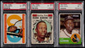 Baseball Cards:Lots, 1960-63 Topps Hank Aaron PSA Graded Trio (3)....