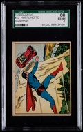 "Non-Sport Cards:Singles (Pre-1950), 1940 Gum Inc. ""Superman"" #23 ""Hurtling to Destruction"" SGC 80 EX/NM6 - Equals Finest SGC Example! ..."