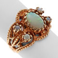 Estate Jewelry:Rings, Opal, Gold Ring. ...