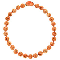 Coral, Sterling Silver Vermeil Necklace