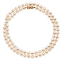 Cultured Pearl, Gold Necklace, Mikimoto