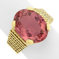 Estate Jewelry:Rings, Tourmaline, Gold Ring. ...