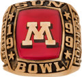 Football Collectibles:Others, 1999 Minnesota Golden Gophers Sun Bowl Ring.. ...