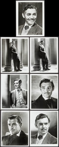 "Movie Posters:Academy Award Winners, Clark Gable in Gone with the Wind (MGM, R-1968). Portrait Photos(7) (8"" X 10""). Academy Award Winners.. ... (Total: 7 Items)"