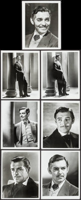 """Clark Gable in Gone with the Wind (MGM, R-1968). Portrait Photos (7) (8"""" X 10""""). Academy Award Winners. ... (T..."""