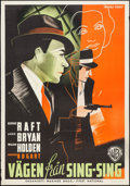 "Movie Posters:Crime, Invisible Stripes (Warner Brothers, 1940). Swedish One Sheet (27.5"" X 39.75""). Crime.. ..."