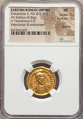 Ancients:Roman Imperial, Ancients: Theodosius II, Eastern Roman Emperor (AD 402-450). AV solidus (4.36 gm)....