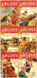 Books:Pulps, [Pulps]. Edgar Rice Burroughs. Complete Six Part Serialization ofthe Burroughs Story Pirates of Venus. Argosy...
