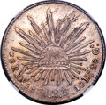 Mexico, Mexico: Republic 8 Reales 1874 Do-JH AU Details (Surface Hairlines)NGC,...