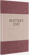 Books:Science Fiction & Fantasy, Gregory Benford. SIGNED/LIMITED. Matter's End. [New Castle, Virginia]: Cheap Street, [1991]....
