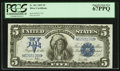 Large Size:Silver Certificates, Fr. 281 $5 1899 Silver Certificate PCGS Superb Gem New 67PPQ.. ...