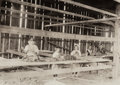 Photographs:Gelatin Silver, Lewis Wickes Hine (American, 1874-1940). Interior of Tobacco Shed, Hawthorn Farm, 1917. Gelatin silver, printed later. 4...