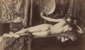 Photographs:Albumen, Wilhelm Gloeden (German, 1856-1931). Female Nude Study,circa 1890. Albumen. 3-1/2 x 5-3/4 inches (8.9 x 14.6 cm) (sight...