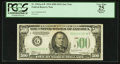 Fr. 2201-G* $500 1934 Federal Reserve Note. PCGS Apparent Very Fine 25