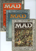 Magazines:Mad, Mad #27-30 Group (EC, 1956) Condition: Average VG/FN. Includes #27 (Al Jaffe starts as story first, new logo), 28 (last issu... (Total: 4 Comic Books)