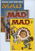 Magazines:Mad, Mad #51-60 Group (EC, 1959-60) Condition: Average VG+. Includes #51, 52 (Christmas cover), 53, 54 (Al Jaffee art begins) 55,... (Total: 10 Comic Books)
