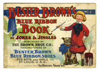 Buster Brown Blue Ribbon Book Of Jokes And Jingles #2 (Brown Shoe Co., 1905) Condition: GD+. This Buster Brown Booklet i...