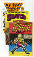 Silver Age (1956-1969):Alternative/Underground, Snatch Comics #1-3 Group (Apex Novelties, 1968-76). FamousUnderground artists such as Robert Crumb, S. Clay Wilson, andSpa...