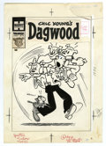 Original Comic Art:Covers, Paul Fung Jr. (attributed) - Dagwood #92 Cover Original Art(Harvey, 1958). Dagwood is really going to the dogs -- or rather...