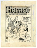 Original Comic Art:Covers, Harvey Staff Artist - Horace and Dotty Dripple #27 Cover OriginalArt (Harvey, 1953). Shades of Dagwood -- Horace gets no re...