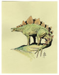 Original Comic Art:Sketches, William Stout - Stegosaurus Illustration Original Art (2003). When it comes to superb drawing, William Stout is one of today...