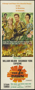 """Movie Posters:War, The 7th Dawn (United Artists, 1964). Insert (14"""" X 36""""). SusannahYork and William Holden star in this adventure set during ..."""