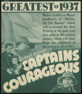 """Movie Posters:Adventure, Captains Courageous (MGM, 1937). Herald (5.75"""" X 6.75""""). This film,based on Rudyard Kipling's classic novel, stars Spencer ..."""