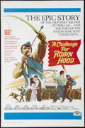 "Movie Posters:Adventure, A Challenge for Robin Hood (20th Century Fox, 1967). One Sheet (27""X 41""). This twist on the Robin Hood legend stars Barrie..."