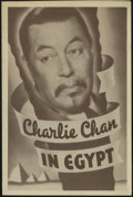"""Movie Posters:Mystery, Charlie Chan in Egypt (Fox, 1935). Herald (6"""" X 9""""). Usuallyregarded as one of the best entries in the """"Chan"""" series, this ..."""