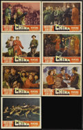 """Movie Posters:War, China (Paramount, 1943). Lobby Cards (8) (11"""" X 14""""). Alan Ladd andLoretta Young star in this very anti-Japanese film made ... (Total:7 Items)"""
