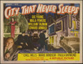 "Movie Posters:Crime, City That Never Sleeps (Republic, 1953). Title Lobby Card (11"" X14"") and Lobby Cards (3) (11"" X 14""). William Talman and Gi...(Total: 4 Items)"