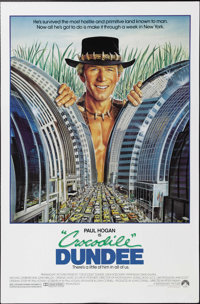 "Crocodile Dundee (Paramount, 1986). One Sheet (27"" X 41""). Paul Hogan stars in this comedy that re-defined exa..."