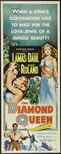 "Movie Posters:Adventure, The Diamond Queen (Warner Brothers, 1953). Insert (14"" X 36""). Thisromantic adventure stars Fernando Lamas and the sultry A..."