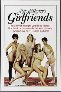 """Girlfriends (Blu-pix, 1983). One Sheet (27"""" X 41""""). Ron Jeremy and Kitten Natividad star in this adult steamer..."""