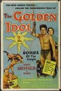 "Movie Posters:Adventure, The Golden Idol (Allied Artists, 1954). One Sheet (27"" X 41"").Johnny Sheffield stars as Bomba the jungle boy in this Frank ..."
