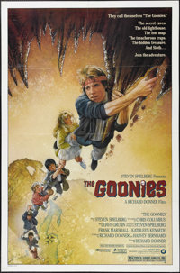 "Goonies (Warner Brothers, 1985). One Sheet (27"" X 41""). ""Goonies never say die!"" Seven kids search f..."