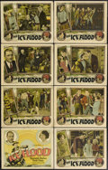 "Movie Posters:Action, The Ice Flood (Universal, 1926). Lobby Card Set of 8 (11"" X 14"").Silent stars Kenneth Harlan and Viola Dana star in this ad...(Total: 8 Items)"