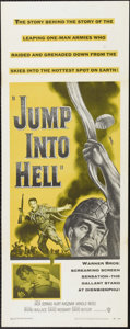"""Movie Posters:War, Jump Into Hell (Warner Brothers, 1955). Insert (14"""" X 36""""). Jacques Sernas and Kurt Kasznar star in this look at French invo..."""