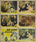 "Movie Posters:Crime, Kid Glove Killer (MGM, 1942). Title Lobby Card (11"" X 14"") and Lobby Cards (5) (11"" X 14""). Van Heflin, Marsha Hunt and Lee ... (Total: 6 Items)"