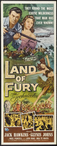 "Movie Posters:Adventure, Land of Fury (Universal, 1955). Insert (14"" X 36""). Glynis Johnsand Jack Hawkins star in this adventure that relies heavily..."
