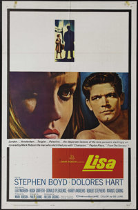 "Lisa (20th Century Fox, 1962). One Sheet (27"" X 41""). At the end of World War II, Lisa Held (Dolores Hart) and..."