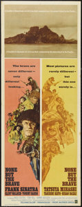 """Movie Posters:War, None But the Brave (Warner Brothers, 1965). Insert (14"""" X 36""""). Twosquads of soldiers, one American and one Japanese, are s..."""