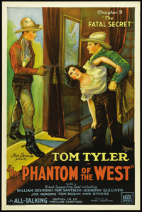 "The Phantom of the West (Mascot, 1931). One Sheet (27"" X 41""). This was Mascot Pictures' second all-talkie, so..."