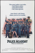 """Movie Posters:Comedy, Police Academy (Warner Brothers, 1984). One Sheet (27"""" X 41""""). Steve Guttenberg and Bubba Smith lead a crop of misfit recrui..."""