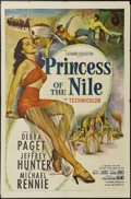 """Princess of the Nile (20th Century Fox, 1954). One Sheet (27"""" X 41""""). This escapist adventure stars a scantly..."""