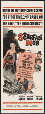 """The Scarface Mob (Desilu Productions Inc., 1962). Insert (14"""" X 36""""). This original pilot film for the """"U..."""