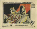 """Movie Posters:Romance, The Sheik (Paramount, 1921). Lobby Card (11"""" X 14""""). Actress Agnes Ayres is best-know for her starring role opposite Rudolf ..."""