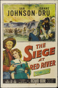 "Movie Posters:Western, The Siege at Red River (20th Century Fox, 1954). One Sheet (27"" X 41""). Van Johnson plays a Southern officer during the Civi..."