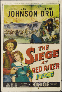 "The Siege at Red River (20th Century Fox, 1954). One Sheet (27"" X 41""). Van Johnson plays a Southern officer d..."
